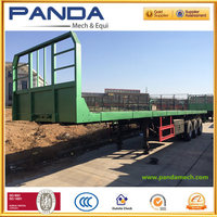 Pandamecch 40ft 20ft container flatbed platform tractor semi trailer and container truck trailers
