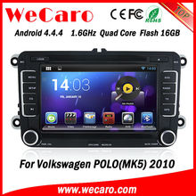 Wecaro HD Capacitive screen wifi+3G Android Car DVD GPS Navigation for VW POLO MK5 2010 multimedia player