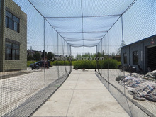 factory wholesale high quality 380D 66ply pe baseball batting cage net netting