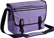 Purple Multi-function Messenger Bag Polyester Leather Travel Messenger Bag Cross Body Package Bag