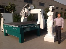 Most popular ! 4 Axis Cylinder Cnc Router For 3D Cutting Foam Wood