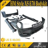 Black FRP xDrive Series X5 Wide Car Bodykit For BMW X5 E70 LCI 07-11 HM Style