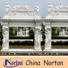 roman man and woman statue decorative marble fireplace mantel NTMF-F343S