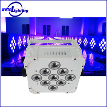 Dj Lights Powered Wireless DMX 9 lens 3W RGB 3in1 LED Party Wedding Uplights