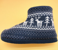 man ankle boot winter fashion home knit wool boots shoes
