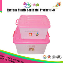 cheap moveable clear plastic storage box with lid
