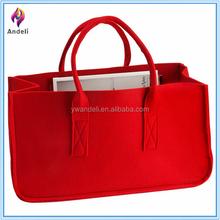 Present Time Mellow Felted Magazine Holder, Magazine Bag, Magazine Tote Handbag