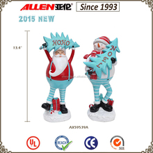 """13.4 """" resin father Christmas, Santa claus statues sale, 2015 new products christmas"""