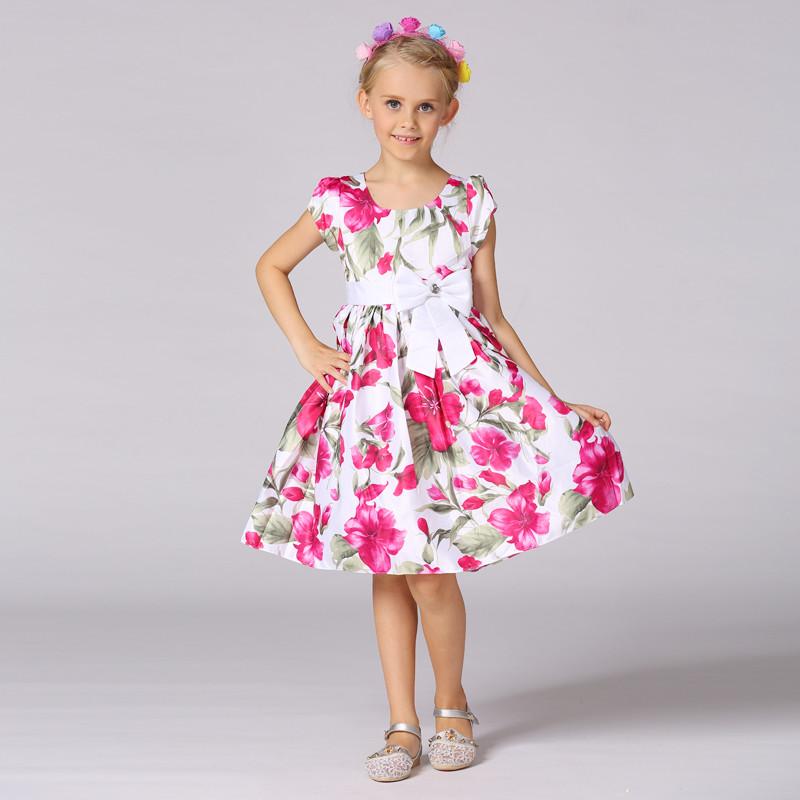 Desgaste de los niños nuevo modelo vestido floral impreso vestido de ...