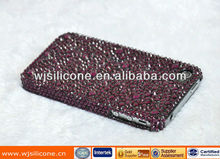 Glitter designs pc mobile phone cases with rhinstone for iphone 5
