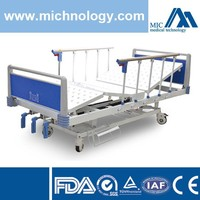 Manual hospital bed three crank with oxygen bottle holder