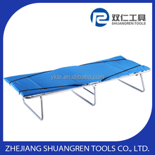 single folding bed with steel frame with spring and foam mattress for a comfortable sleep
