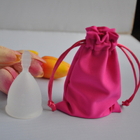 Top sale 100%medical silicone women menstrual cup for wholesale Free shipping