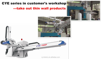 2 axis robotic arm for PP thin wall plastic food container picking and packing