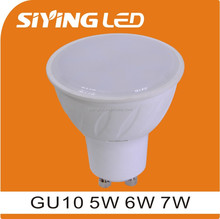 thermal plastic 7w milky cover smd led gu10 led spotlights