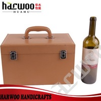 Beautiful Big leather wine carry case with handle