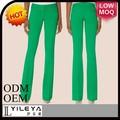 ropa de trabajo de estilo de la moda verde pantalones formales para las niñas