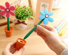 Creative sun flower shape ballpoint pen/flower pot shape pen