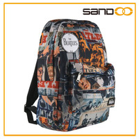 BSCI audit factory the beatles backpack, fashion canvas school bags for grade 5