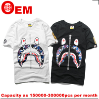 rubber print on mens white t shirt made in china