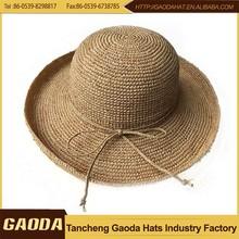 New design promotion madagascar raffia hats
