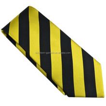 jacquard woven pure silk striped necktie