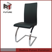 U shape 25mm round steel tube with chrome chinese chair