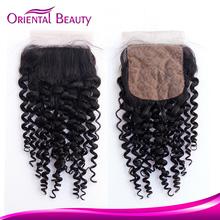 Malaysian virgin stock human hair 4x4 silk base closure wholesale