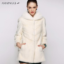 sale pure white long mink fur coat winter coat for women