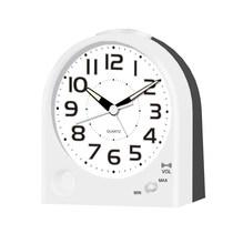 Plastic table alarm clock with volume control