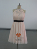 Cocktail Dresses HMY-D492 Cheap mini Halter beaded Blush Pink Skirt real picture cocktail dresses