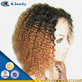 Pelucas de cabello natural rizado afro ondulado muy populares para las mujeres negras