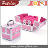 Double open printable logo aluminum cosmetic gift set packaging box,aluminum makeup case
