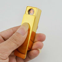 Silfa new rechargeable USB lighter gold metal technology gifts for men 2013
