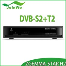 Original zgemma-star H2 In Stock! DVB-S2+T2/C Enigma 2 twin tuner Hot sale in Italy & Spain satellite receiver Zgemma star H2