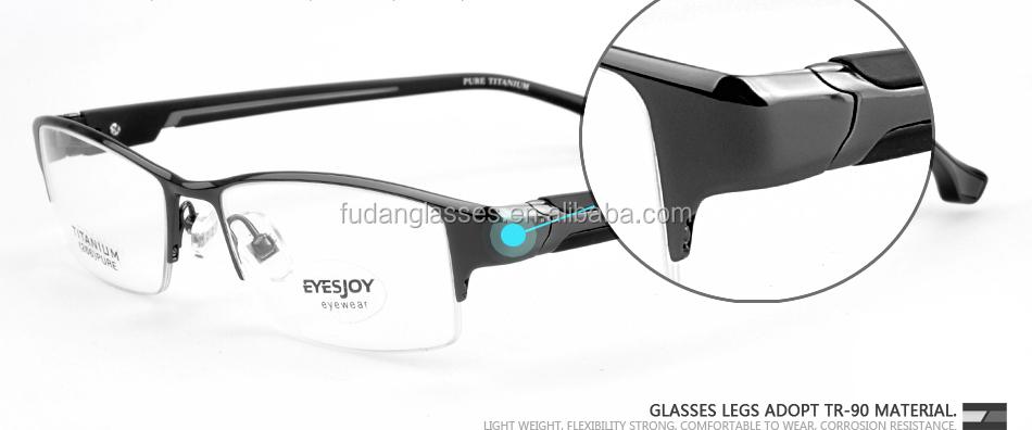 Semi-rimmed Glasses Frame Men And Women Eyewear Eyeglasses Frame ...