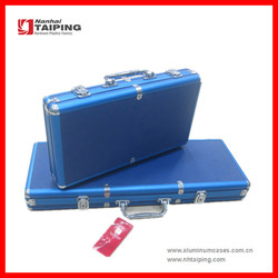 Aluminum Blue ABS Chip Cases Poker Chip Case Aluminum Case Trolley Case Equipment Case