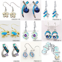 OEM Welcomed Fashion Fire Opal 925 Sterling Silver Jewelry, Earring Jewelry Manufacturer