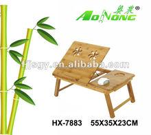 heißer verkauf faltbaren bambus computertisch