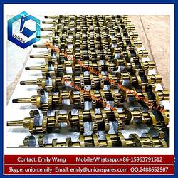 Excavator PC120 PC100-6 Forged Steel S4D102 Diesel Crankshaft 6732-31-1100 for Komatsu