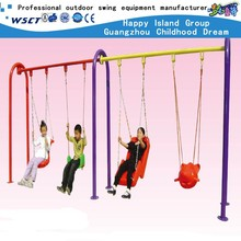 China wholesale metal swing sets with four seats outdoor swing equipment