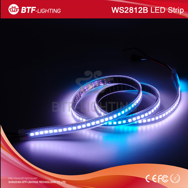 1m 144leds/m ws2812b 주도 픽셀 스트립 블랙 PCB 튜브 방수 IP67-LED 지구 ...
