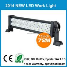 led light bar 72W led work light 13.5 inch