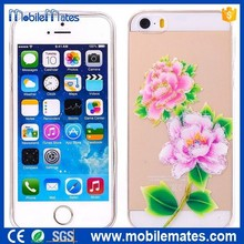 Hot Selling Fashion Glitter Powder Crafts Flower TPU Soft Case for iPhone 5 5s 6 6Plus