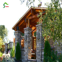 Exterior House Designs stone gate pillar tiles