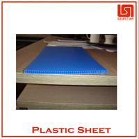 High density corrugated plastic floor board material