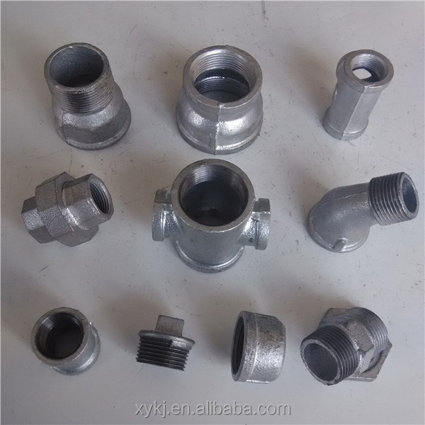 Malleable cast iron pipe fittings galvanized black bs