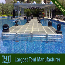 swimming pool fashionable T glass stage