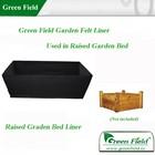 campo verde em forma de retângulo sentiu forro para jardim cama levantada