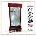 andar de água de lótus recurso de metal e vidro de água fonte de parede